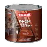 Эмаль для пола Pufas Decoself ПФ-266 жёлто-коричневая (1,9 кг)