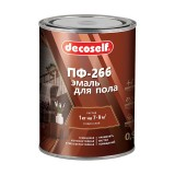 Эмаль для пола Pufas Decoself ПФ-266 жёлто-коричневая (0,9 кг)