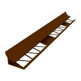 Уголок под плитку Ideal 7-8мм (внутр.) 2,5 м коричневый