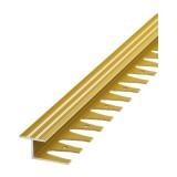 Профиль гнущийся анод. алюм. 10 мм 2,7 м золото (ЛК 15-2700-02л)