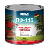 ПУФАС Эмаль ПФ-115 ГОСТ черная (1,9кг)