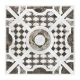 Керамогранит декор 600х600х10мм Грация Керамика Casa Blanca матовый белый 03